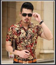 Арабских дядя regal прилив однобортный смесь шелк европа цветочный блузка золотой