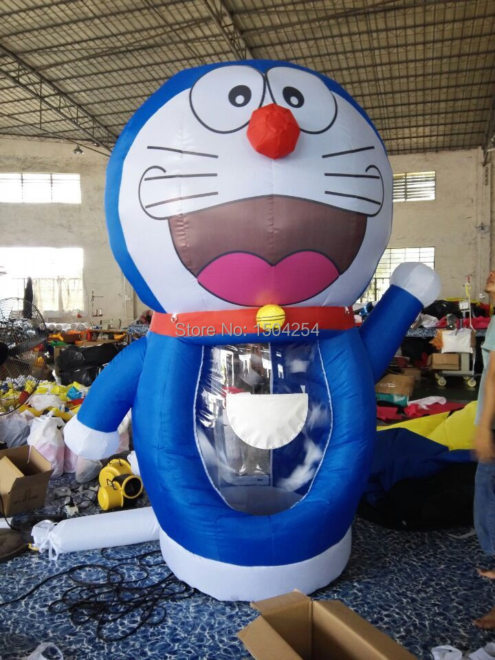 hot sale 2.5m Doraemon Inflatable Money Machine Cash Cube Money Booth for Sale with blowers by free shipping inflatable game free shipping 3m inflatable ice cream with blower hot sale inflatable oxford nylon cloth model for inflatable toys