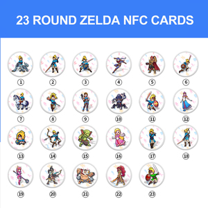 Image 3 - De Games Kaart Van Amiibo Compatibel Zelda 23 Nfc Ronde Kaart 20 Hart Wolf De Legende Van Adem Van De wilde Ns Schakelaar