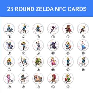 Image 3 - をゲームカードのamiibo互換ゼルダ23 nfcラウンドカード20ハートウルフの息の伝説野生nsスイッチ