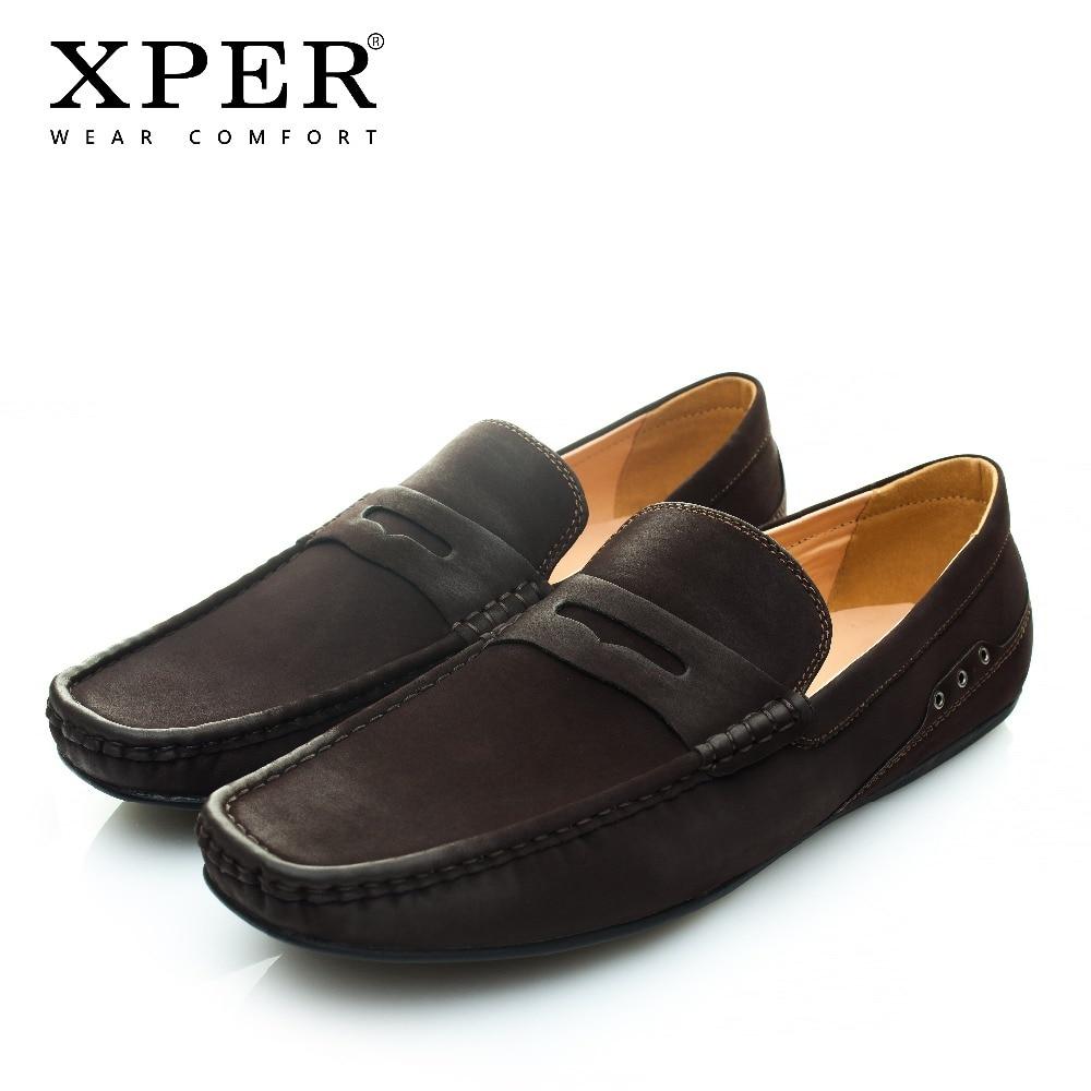 XPER Brand Fashion Soft Artificial Leather Breathable Men's Flats Shoes Slip-on Mocassins Men Loafers Black Big Size CE86811BL