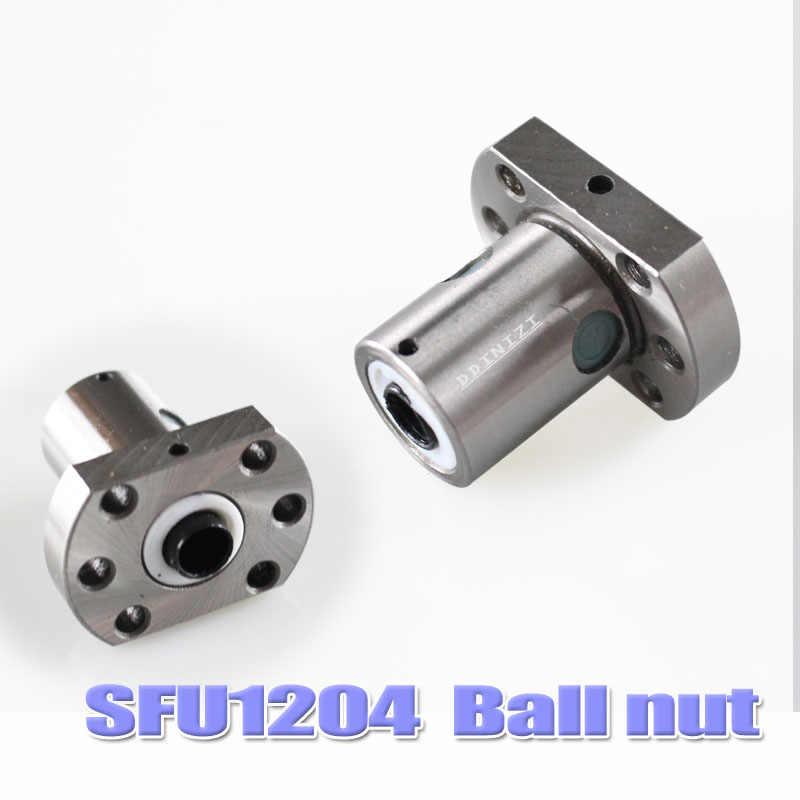 Trasporto libero SFU1204 laminati a ricircolo di sfere C7 con 1204 flangia sfera singolo dado per BK/BF10 fine lavorazione CNC parti di RM1204