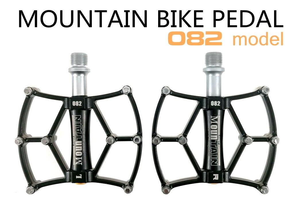 SHANMASHI En Alliage D'aluminium Pédale De Bicyclette VTT de Montagne Vélo De Route Pédales 3 Roulements scellés Pédale Anti-dérapage Pédale de Plate-Forme Noir