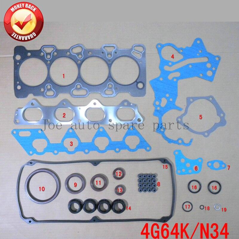 4G64 N34 Moteur Complet Joint Ensemble kit pour Mitsubishi CHAR 2.4L 16 V 2351CC 1992-1998 MD971624 50139700