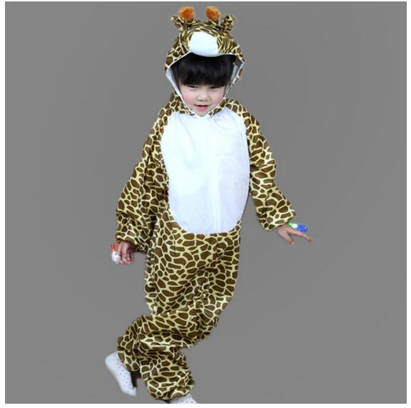 Child Kids Pajama Cartoon Animal Giraffe Costume Girl Boy Cosplay Jumpsuit Children's Day Halloween Costumes Y964