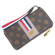Luxury Men Long Pu Leather Purse Wallets Cross Lines Fashion Casual Standard Male Boys Thin Clutch Card Holders