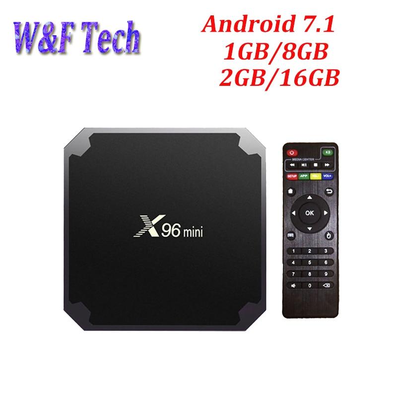 2G 16G Android 7.1 TV BOX Amlogic S905W Quad Core Support 2.4GHz WiFi Media Player IPTV Box X96 mini 1GB 8GB X96mini x96 mini amlogic s905w quad core android 7 1 tv box 1g 8g 2g 16g support 4k iptv media player 2 4g wifi x96mini set top box