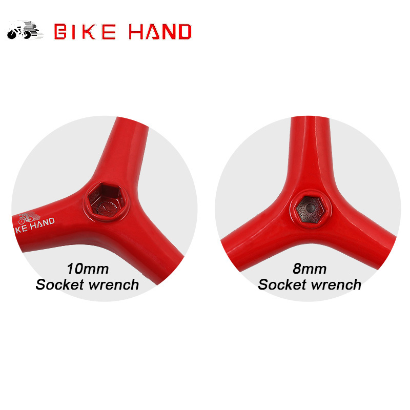 BIKE HAND 4//5//6 mm 3 Way Hex Key Wrench Spanner Bicycle Repair Tools Cycling