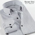Коммерция мужчины в одежда чёрно-белый ткань в полоску 100% вилочная часть хлопок свободного покроя вилочная часть приталенный длинная - рукав рубашка