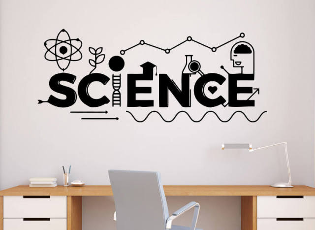 Art Home Decor Science School Education Classroom Interior Wall