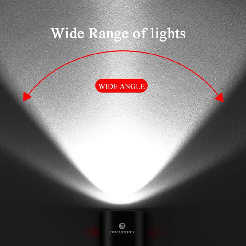 ROCKBROS велосипед светильник непромокаемые USB Перезаряжаемые светодиодный 2000 мАч MTB переднего фонаря ламповый патрон светильник Алюминий ультра светильник вспышки светильник велосипеда светильник