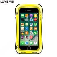For Apple IPhone 7 Case IPhone7 Waterproof Shockproof Cases Slim Waist LoveMei Gorilla Toughened Glass Hard