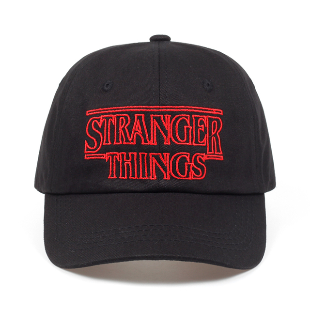Stranger Things Dustin cotton% baseball Caps Hats Summer Black dad Caps Men  Adjustable Summer shapback golf Hat 1c2b24774dd8
