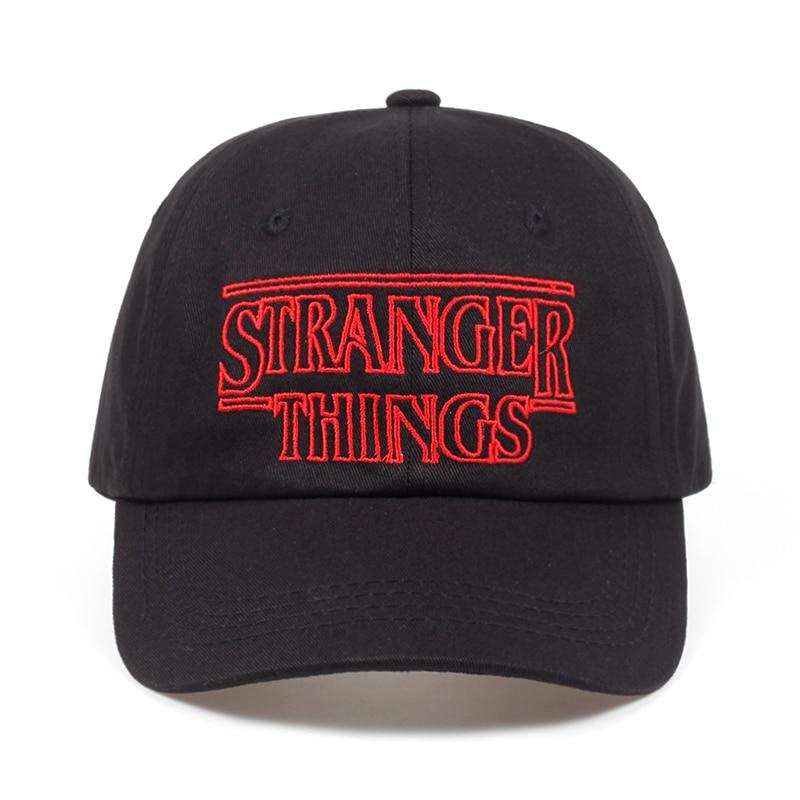 Stranger Things Dustin cotton%   baseball     Caps   Hats Summer Black dad   Caps   Men Adjustable Summer shapback golf Hat