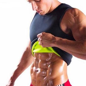 Mężczyźni talia brzuch trener spalanie tłuszczu kamizelka fitness odchudzanie gorący neoprenowy odzież sportowa urządzenie do modelowania sylwetki Sauna sweat kamizelka Workout Shirt tanie i dobre opinie Pure Fight Pasuje mniejszy niż zwykle proszę sprawdzić ten sklep jest dobór informacji Flexible Weightloss Hot Body Shaper