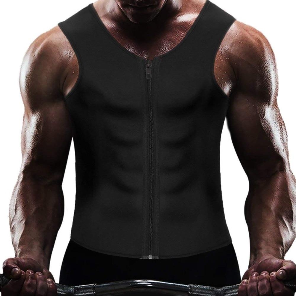 3e41822269668 Men Neoprene Zipper Waist Trainer Vest Shapewear Body Shaper Slimming  Workout Thermal Muscle Underwear Shapers Fajas