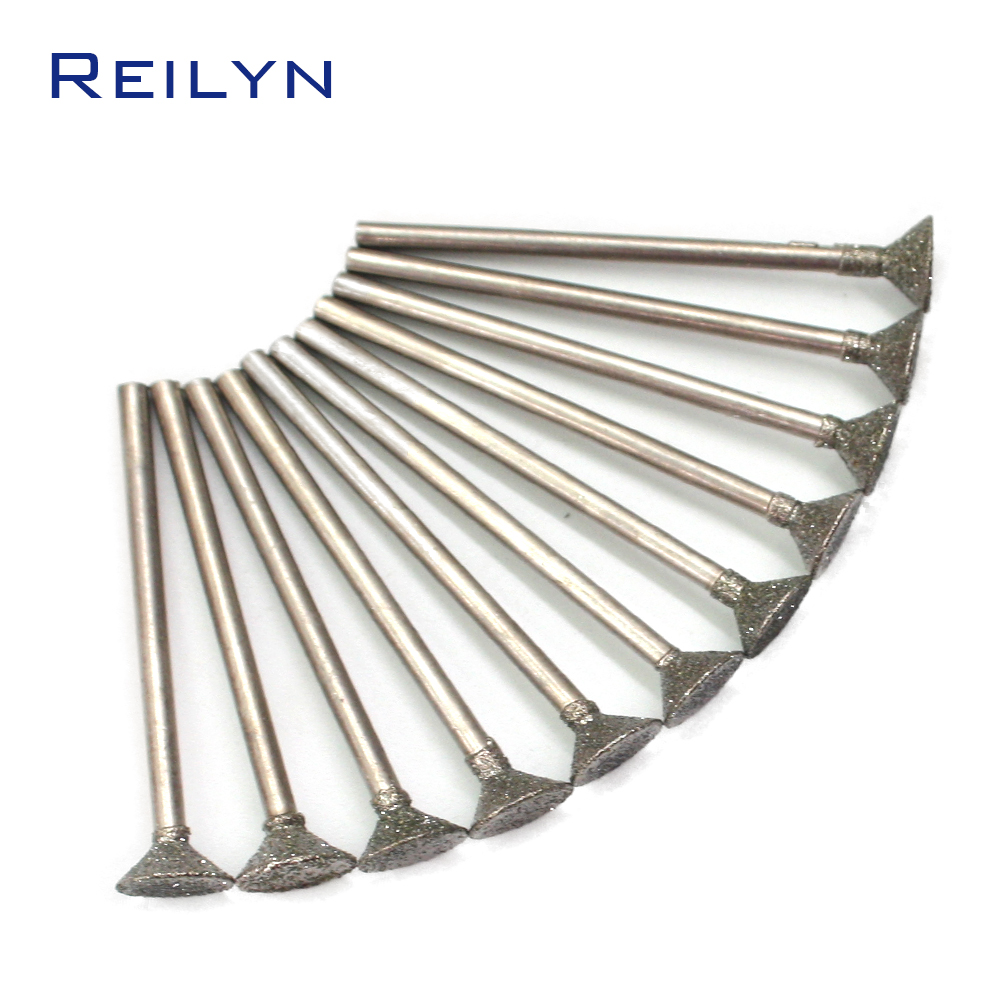 C2-type Fine Grain Emergy Diamond Grinding Burr Teeth Grinding Bits Grinding Abrasive Head For Die Grinder/dremel/rotary Tools