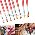 8PCS/LOT Nail Art Drawing Brush UV Gel Painting Liner 3D Drawing Gradient French Nail Brushes Pen Gradient Soft Hair