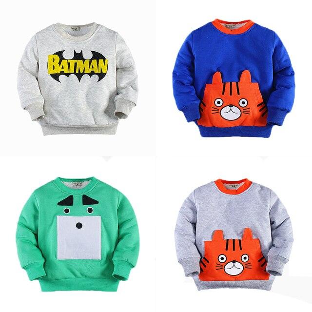 Warm Winter Toddler Boy Sweatshirt Cotton Inner for Kids 2T - 7T