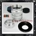 "C Mount + Silver 25mm F1.4 CCTV 1/2"" Lens for Fujifilm Fuji FX series XE1 XPRO1 X-pro1 X-E1 X-M1 X-A1 X-E2 X-T1 X-T10 Camera"