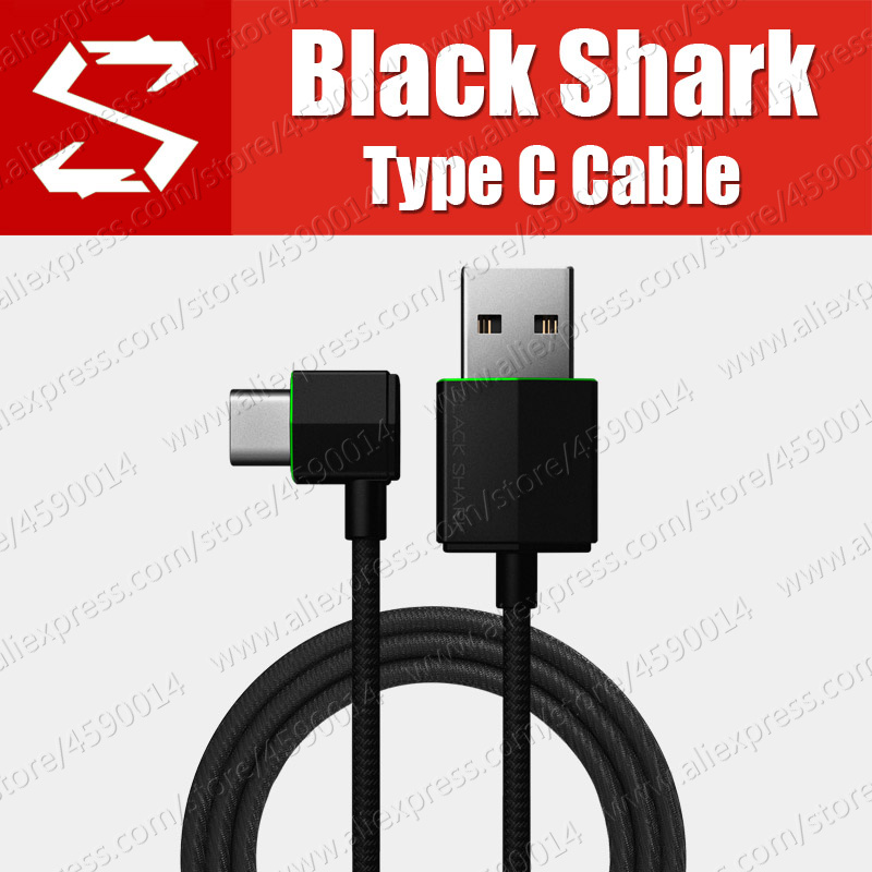 BL07 XiaoMi black shark Right Angle USB Type C Date Cable 2nd Special Gaming USB C Cable Nylon Weave 3A Quick Charge-in Mobile Phone Cables from Cellphones & Telecommunications