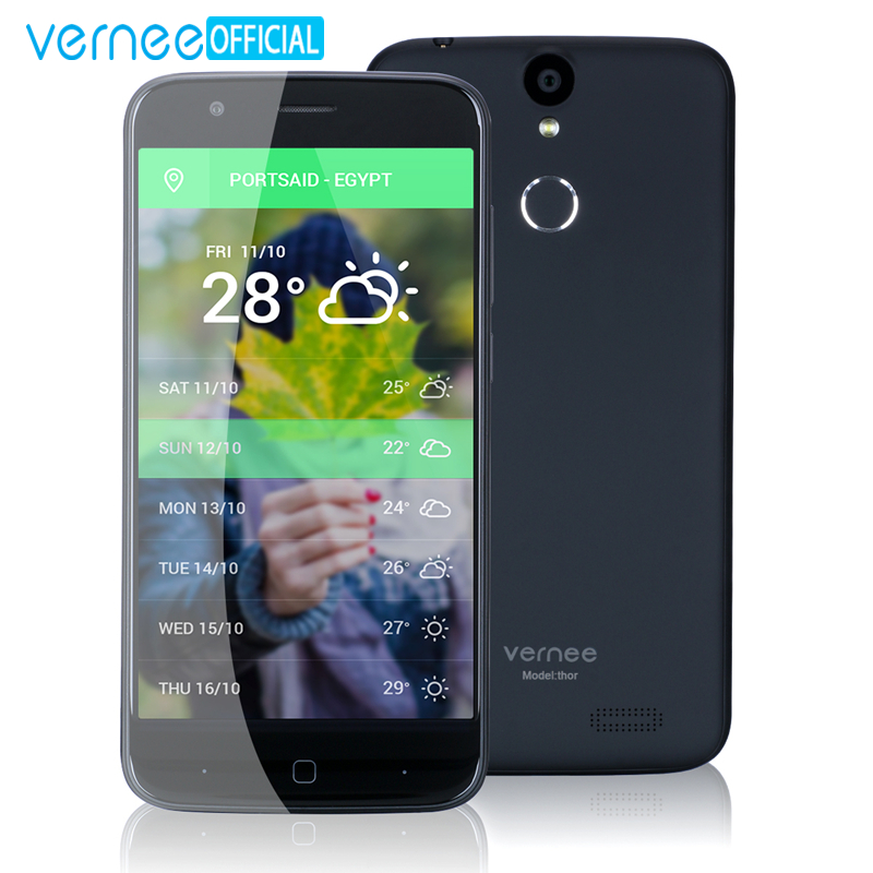 "Vernee Thor 5\"" HD 4G LTE Mobile Phone MTK6753 Octa-Core Android 7.0 Cell Phones 3G RAM 16G ROM Dual SIM Fingerprint Smartphone"