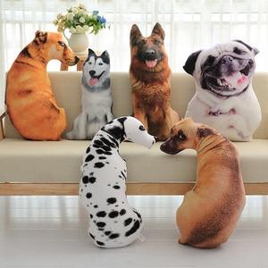 Image 2 - CAMMITEVER 50cm Cute Simulation Dog Plush Toy 3D Printing Stuffed Animal Dog Home Decor Cartoon Sofa Toys Sleeping Pillow Plush