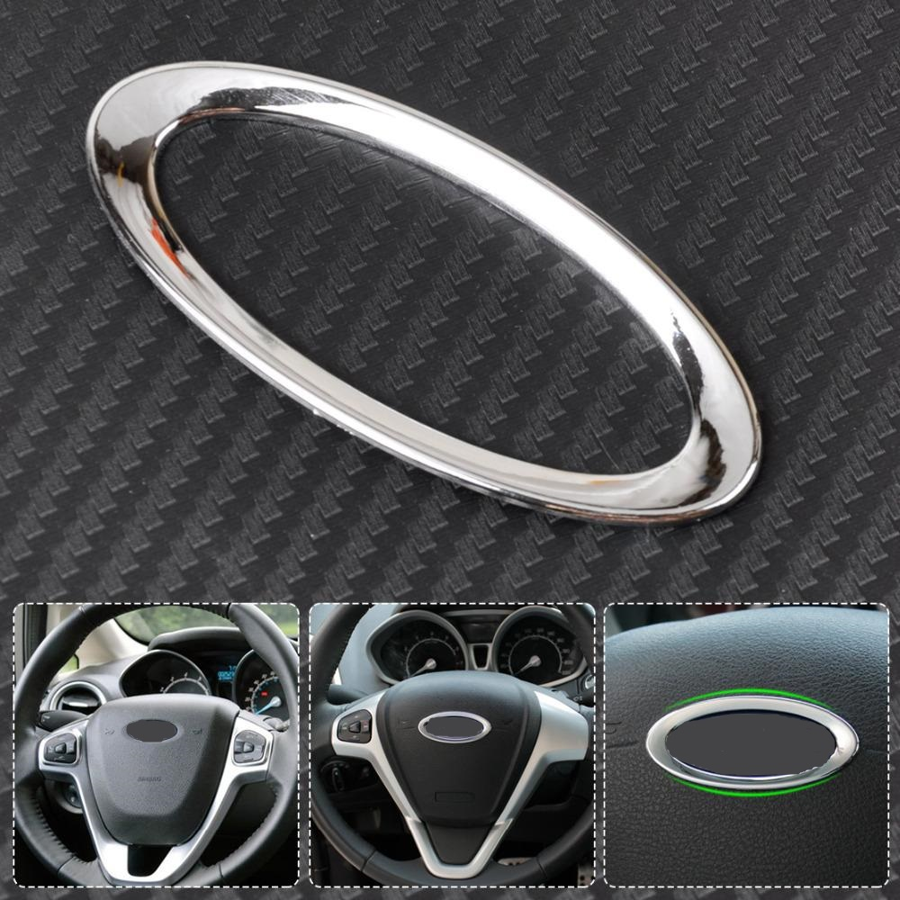 CITALL Steering Wheel Center Paillette Decoration Ring Cover Mark for Ford Focus 2 3 Fiesta Mondeo Ecosport Kuga Escape