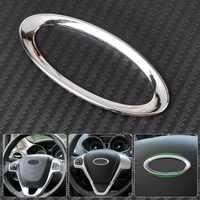 CITALL volante Centro Paillette decoración anillo marca para Ford Focus 2 3 Fiesta Mondeo Ecosport, Kuga, escape