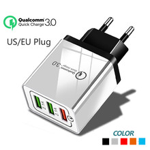 Quick Charge 3.0 Usb Charger 3 Port USB qc3.0 Wall us eu plug Fast Charging for iphone Huawei samsung s9