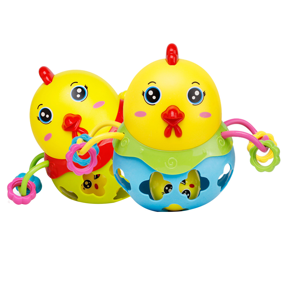 1PC Rattles Handbell Chicken Musical Instrument Rhythm Shaking Baby Toy Chicken Jingle Bell Kid Educational Toys Random Color