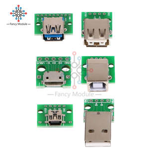 Pcb-Converter-Adapter Breakout-Board Mini-Usb Usb-Typeb-Interface DIP Female Usb-2.0