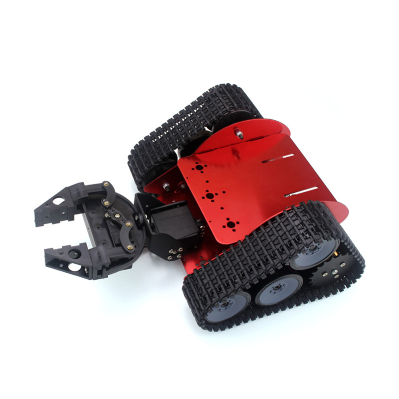 Arduino robot full set of Triangular Tracked handling robot full set  tracked robot 2 DOF manipulator gripper intelligent force and position control of 6 dof robot manipulator