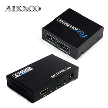 AIXXCO HDCP HDMI Splitter Full HD 1080p Video HDMI Switch Switcher 1X2 1X4 Split 1 in 2 Out Amplifier Display For HDTV DVD PS3
