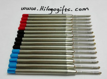 Leak proof  Continued selling red ink Green blue Mental Cross style Ball Pen refill for School Supplies Sales champion