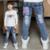 2017 Novas Crianças de Jeans Meninos Calças Jeans Primavera Luz Sólida lavagem de Jeans Meninos para Meninos Regulares Elástico Da Cintura das calças de Brim das Crianças P256