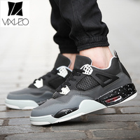 VIXLEO New Fashion Unisex Casual Shoes Lover Black Faux Suede Men Lady Low air cushion Shoes Breathable Bootss Red Botas