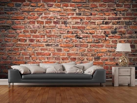 Pvc Behang Keuken : Custom retro behang. baksteen muur 3d behang muurschildering voor