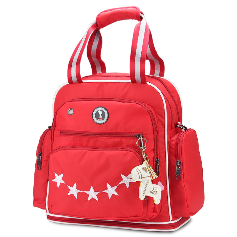 star pattern lovely baby diaper bags backpack black red purple mommy maternity nappy bag newborn. Black Bedroom Furniture Sets. Home Design Ideas