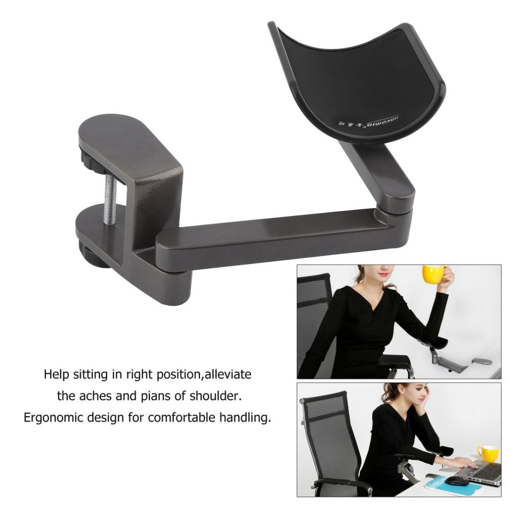 Computer & Office Hearty Aluminum Alloy Adjustable Arm Rest Wrist Support Extended Mousepad Rotation Ergonomic Mouse Pad Shoulder Protect For Office Game High Quality And Inexpensive Mouse Pads