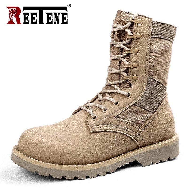 Schlussverkauf Reetene 2018 Military Männer Stiefel Hohe Qualität Leder Männer Stiefeletten Wüste Stiefel Für Männer Mode Botas Undurchlässig Hombre Home