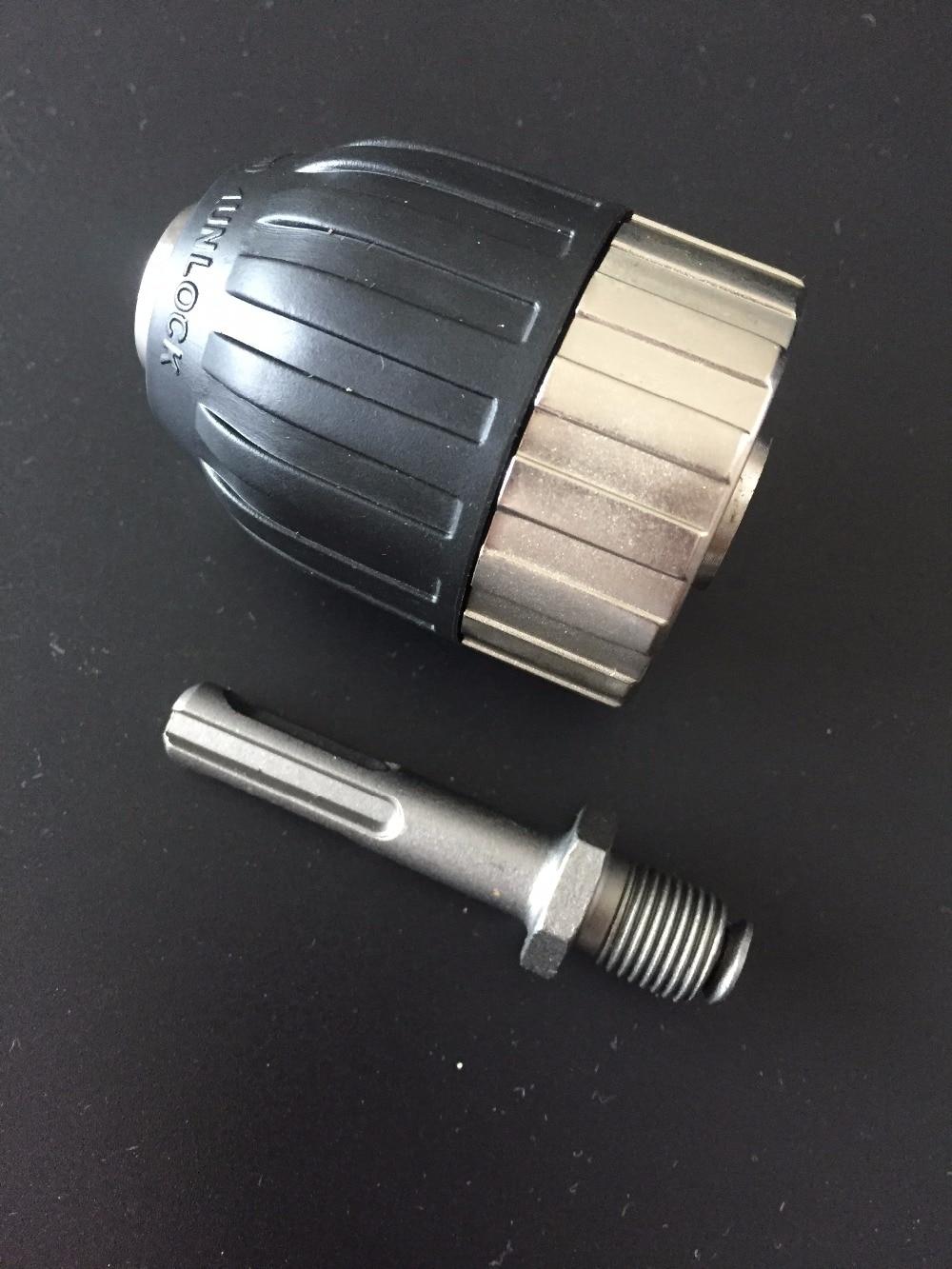 Fixmee 13mm 1/2 Alloy Self-locking Keyless Drill Chuck & SDS Adapter Hardware jt33 keyless drill chuck 1 13mm 1 32 1 2 self tighten with r8 shank adapter top quality