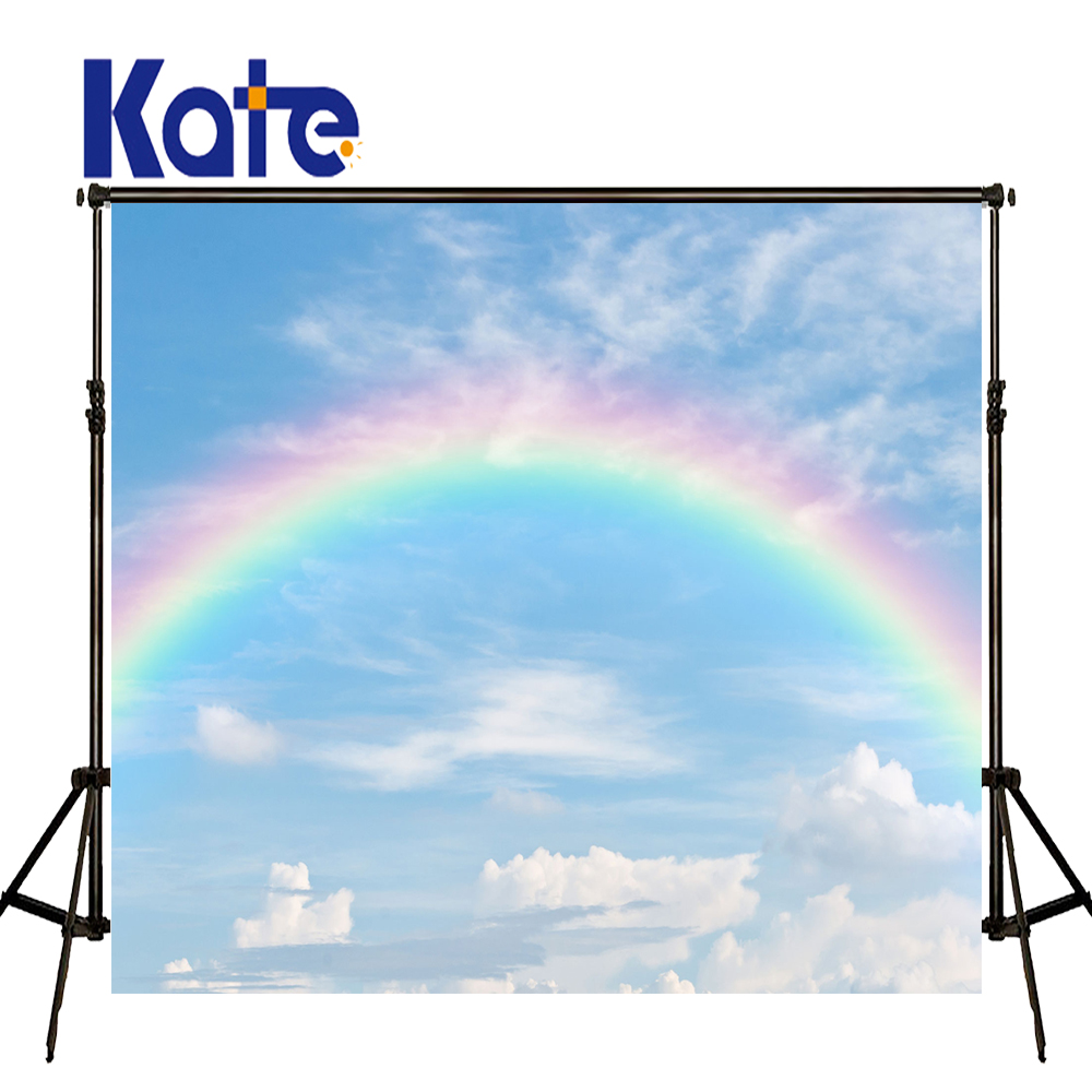 Kate Blue Sky Photography Backdrops Rainbow and Cloud Background Newborn Photography Background Seamless Photo for Photos studio vintage retro dad pattern quartz pocket watch bronze 1 x 377s 80cm