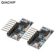 QIACHIP receptor RF de 433 mhz Módulo Decodificador de código de aprendizaje, 433 mhz, salida inalámbrica de 4 canales para controles remotos, codificación 1527 2262, 2 uds.