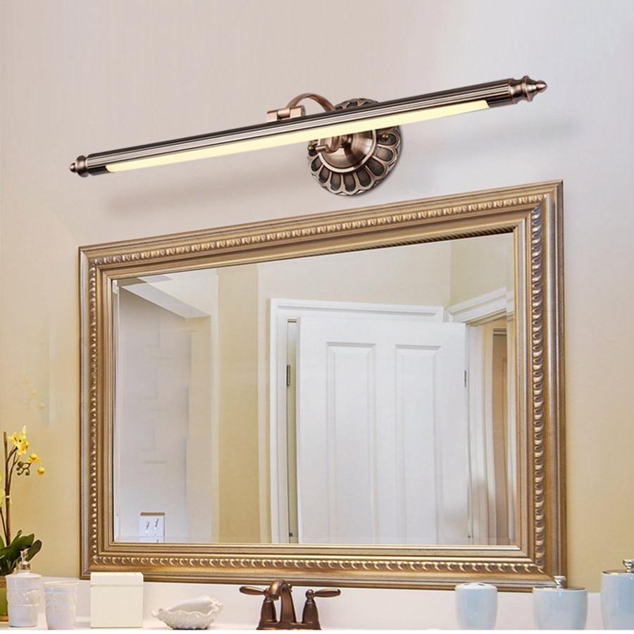 BEIAIDI 50CM 8W Bathroom Mirror Lamp Retro Bronze Cabinet Vanity ...