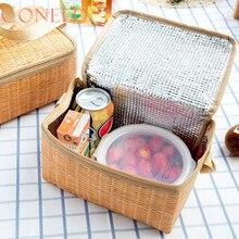 Coneed Прямая поставка 2017 Портативный утепленная Термальность охладитель Коробки для обедов сумка для хранения Пикник контейнер Juy26