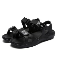Summer Outdoor Men Flats Casual Beach Athletic Shoes Non-slip Sport Sandals leather rubber slip on men sandals hot new mar 25