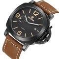 Skone de marca reloj militar del ejército de los hombres masculinos clásicos de lujo relojes hombres auto fecha deporte impermeable reloj de pulsera de cuarzo de cuero