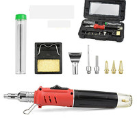 HS 1115K 10 in 1 electronic ignition gas soldering iron Gas fired soldering iron welding equipment air Soldering Tools