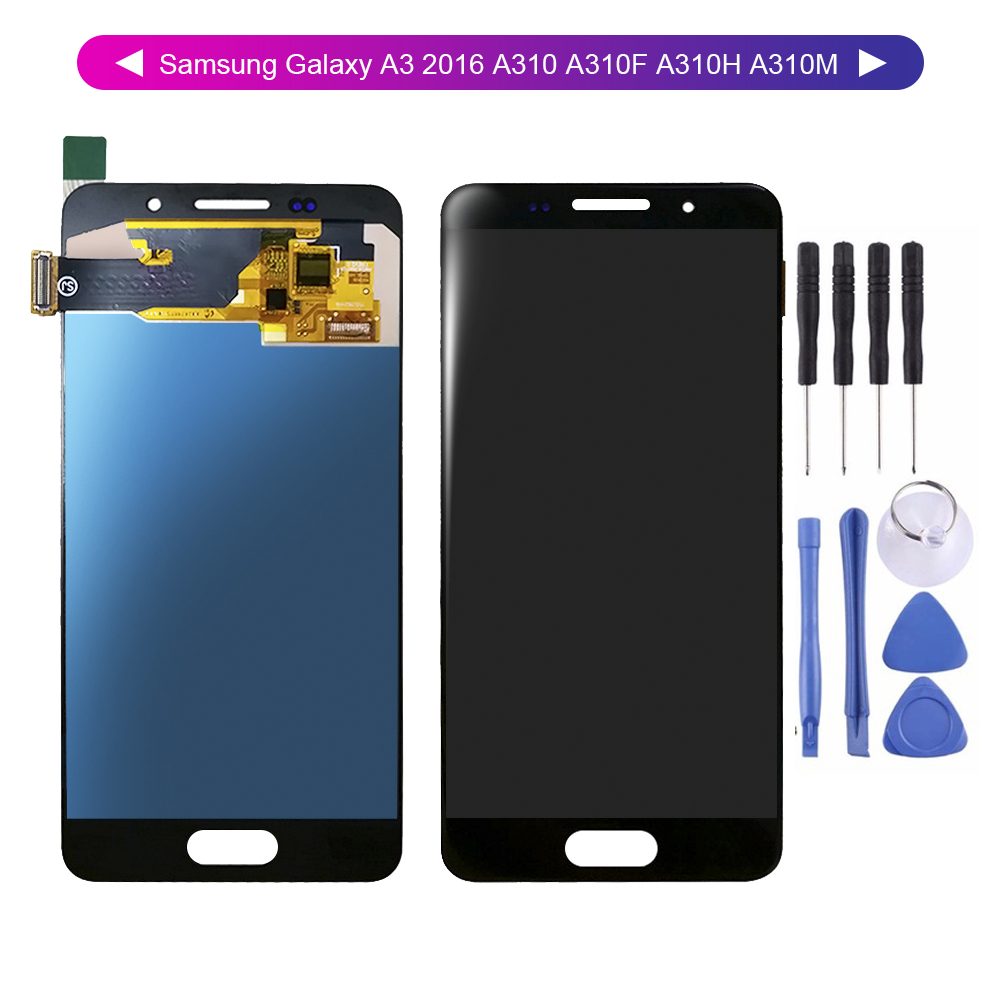 For <font><b>Samsung</b></font> Galaxy A3 2016 A310 <font><b>A310F</b></font> A310H A310M A3 <font><b>Display</b></font> <font><b>Screen</b></font> Digitizer Touch Panel Glass Sensor Assembly Replacement Part image